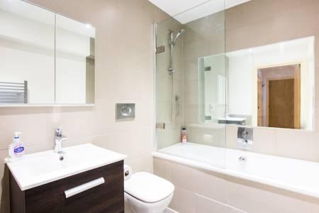 Bathroom at Marzell House Serviced Apartments, West Kensington, London - Citybase Apartments
