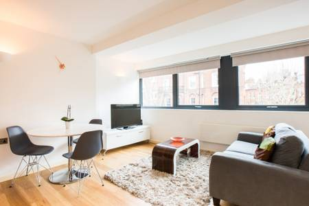 Lounge at Marzell House Serviced Apartments, West Kensington, London - Citybase Apartments