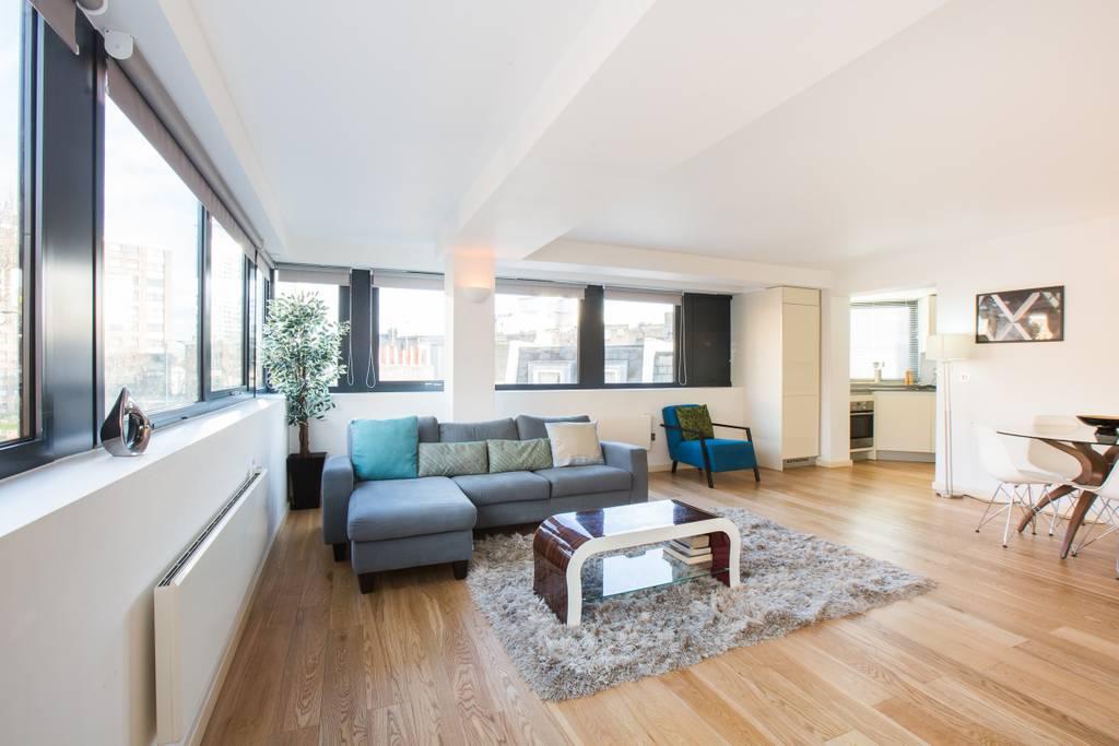 Sofa at Marzell House Serviced Apartments, West Kensington, London - Citybase Apartments