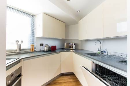 Kitchen at Marzell House Serviced Apartments, West Kensington, London - Citybase Apartments