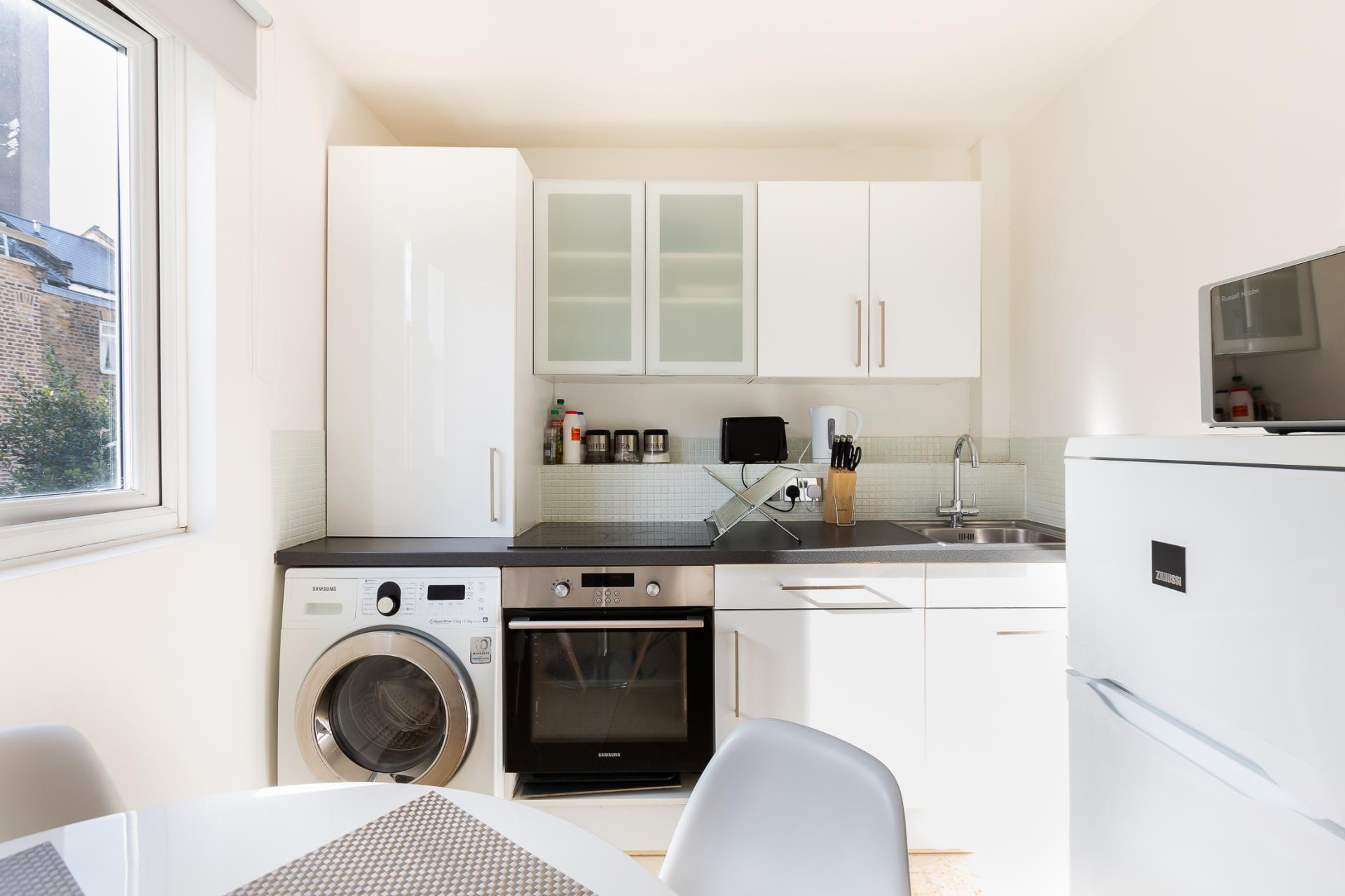 Kitchen at ZO Notting Hill Apartments, Maida Vale, London - Citybase Apartments