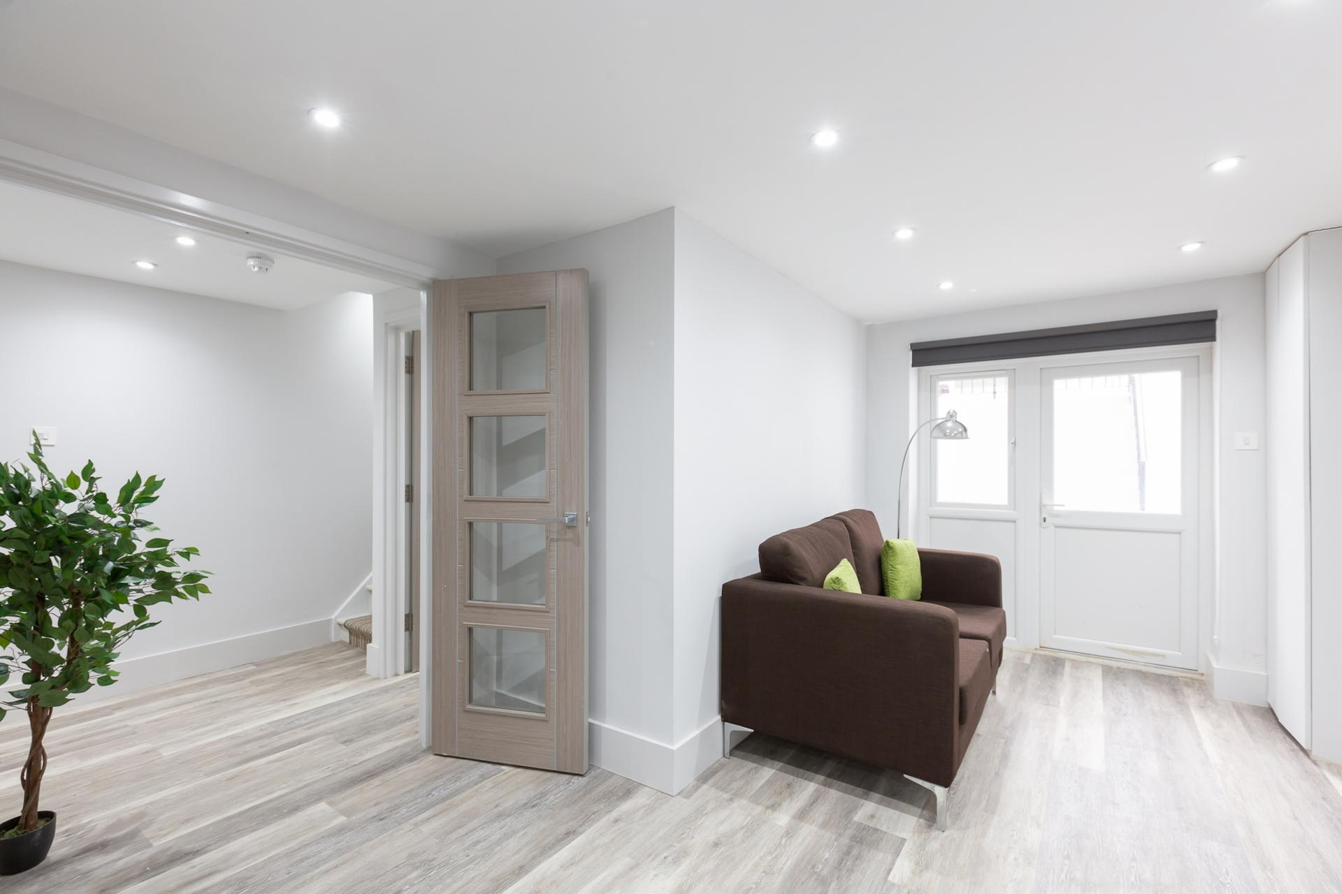 Living Room at Harrow Road Apartments, Westbourne Green, London - Citybase Apartments