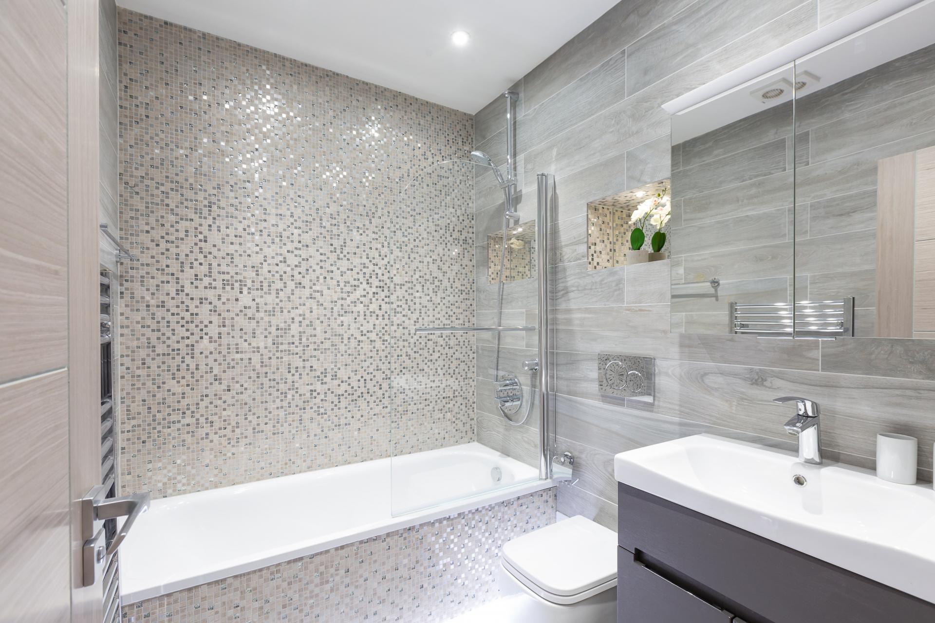 Bathroom at Harrow Road Apartments, Westbourne Green, London - Citybase Apartments