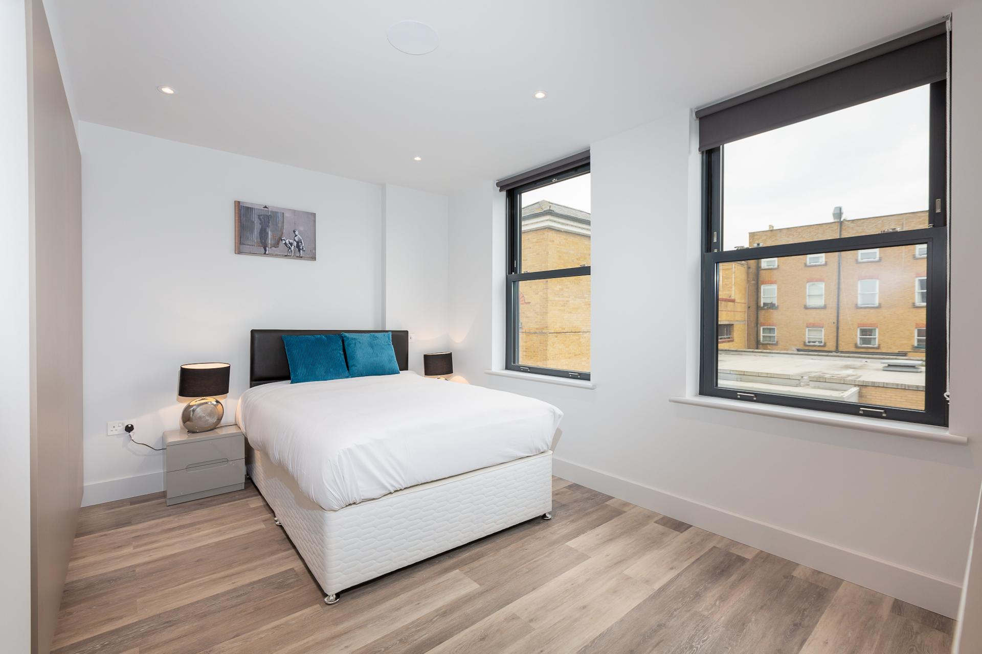 Bed at Fulham Serviced Apartments, Fulham, London - Citybase Apartments