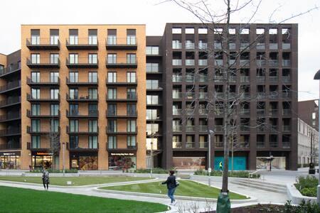 External of Royal Wharf Apartment, Silvertown, London - Citybase Apartments