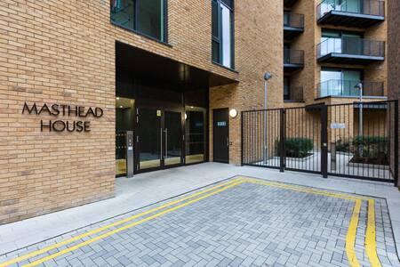 External Entrance at Royal Wharf Apartment, Silvertown, London - Citybase Apartments