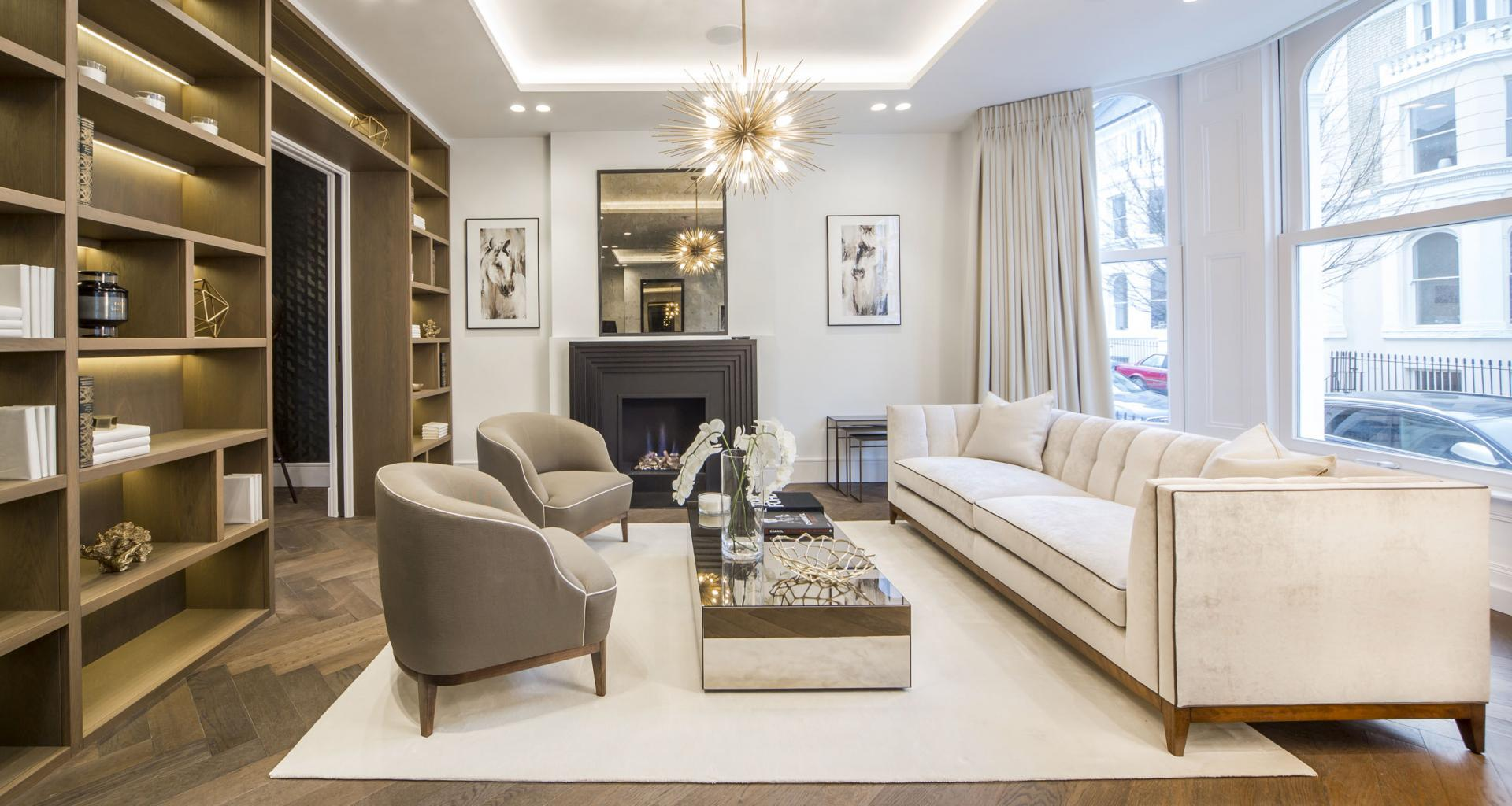 Living area at 21 Campden Hill Garden House, Notting Hill, London - Citybase Apartments