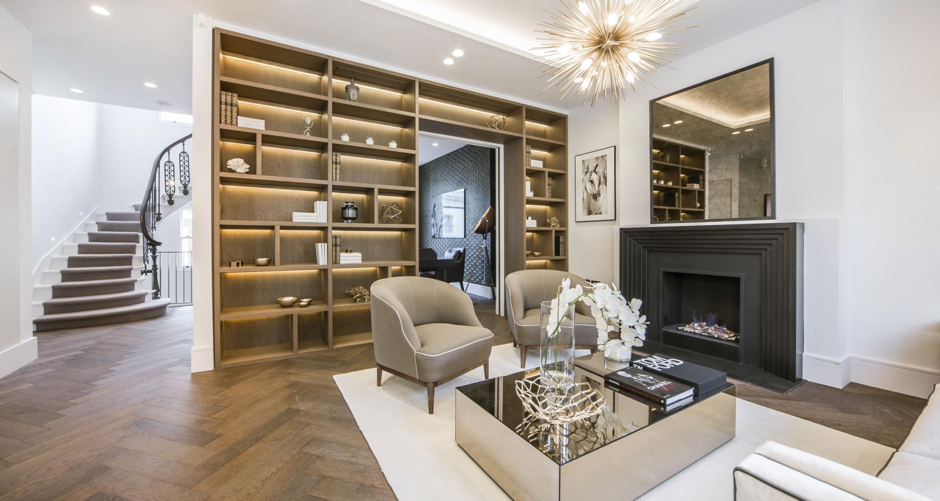 Living room at 21 Campden Hill Garden House, Notting Hill, London - Citybase Apartments