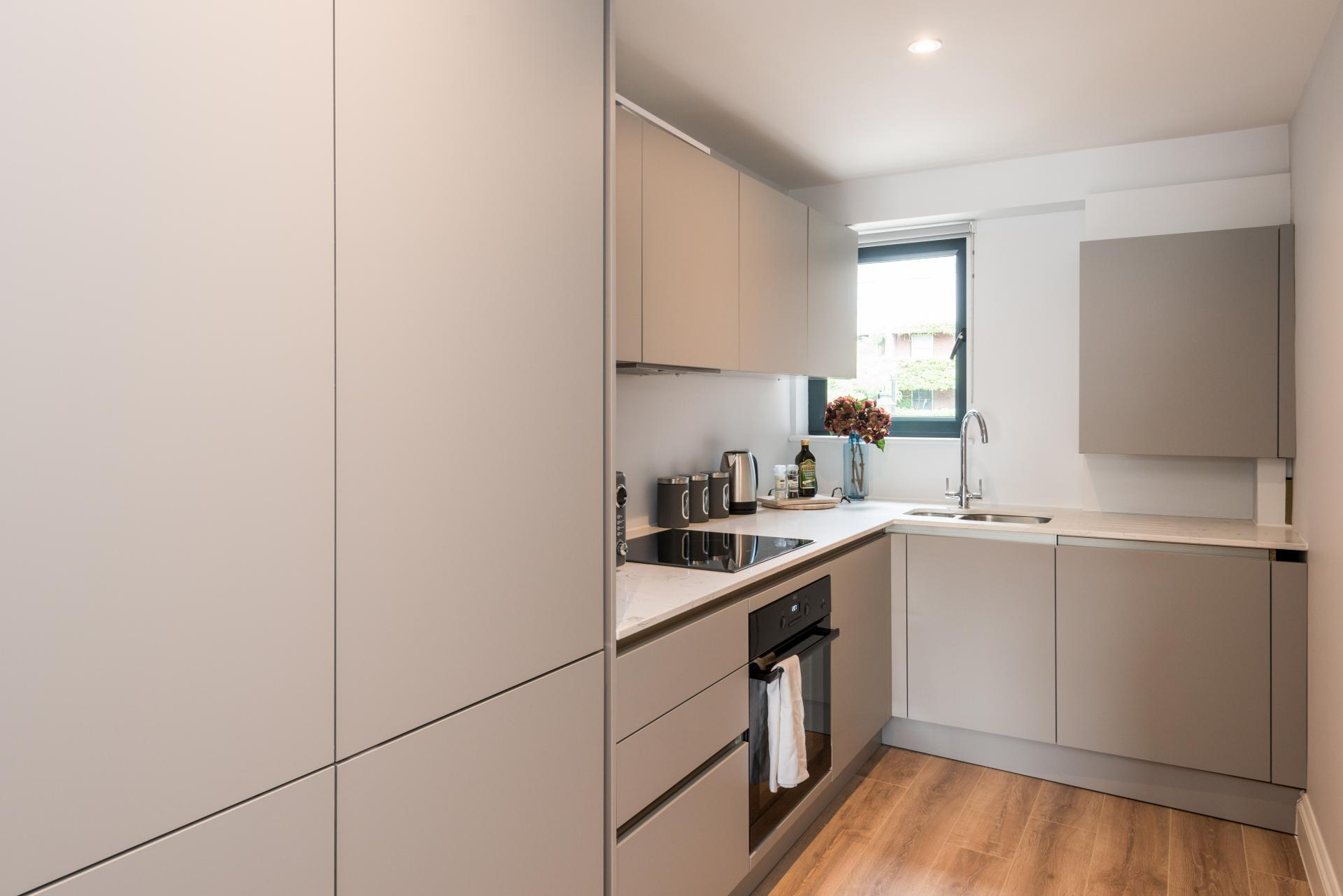 Kitchen at The Carlyle Serviced Apartments, Earls Court, London - Citybase Apartments