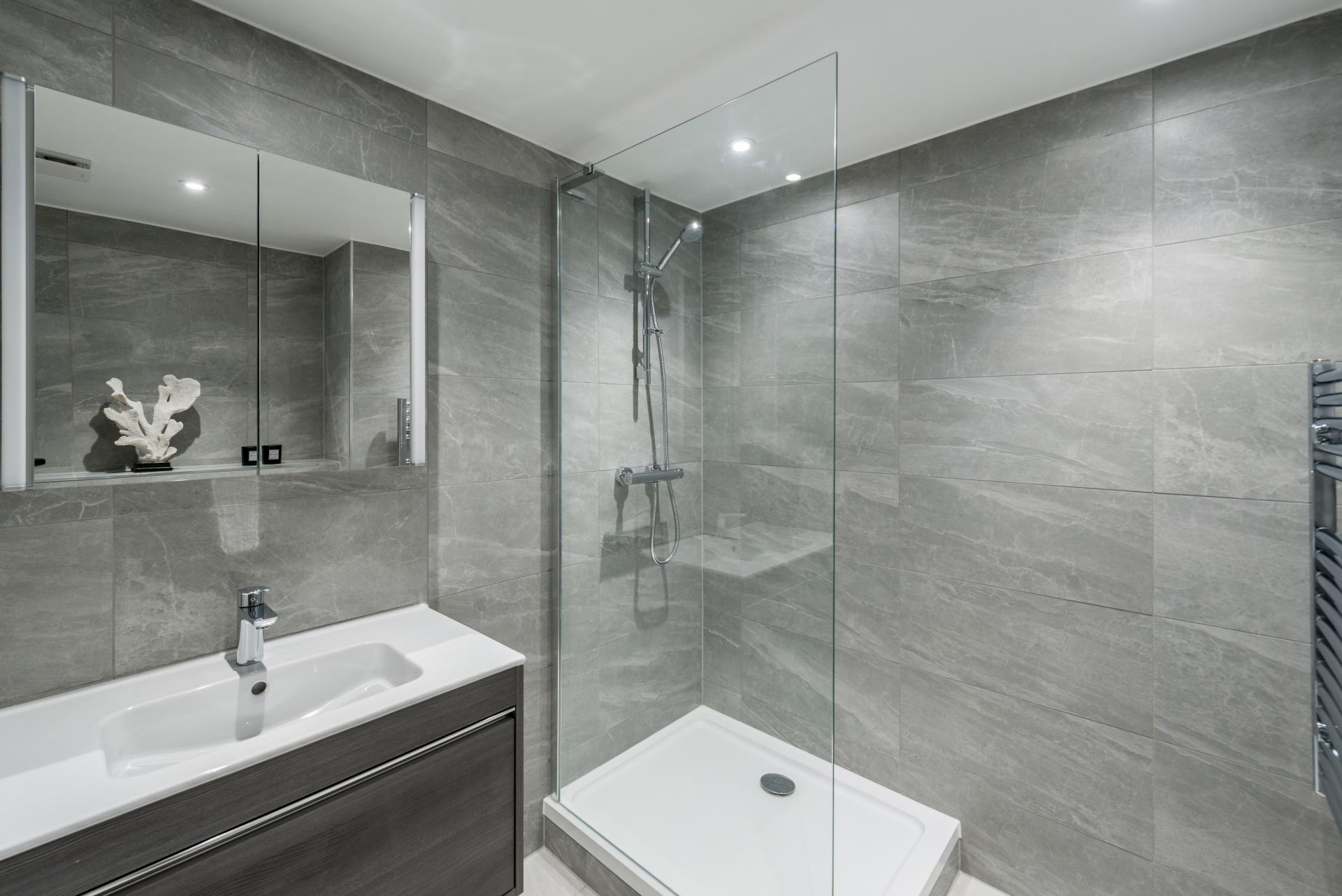 Bathroom at The Carlyle Serviced Apartments, Earls Court, London - Citybase Apartments