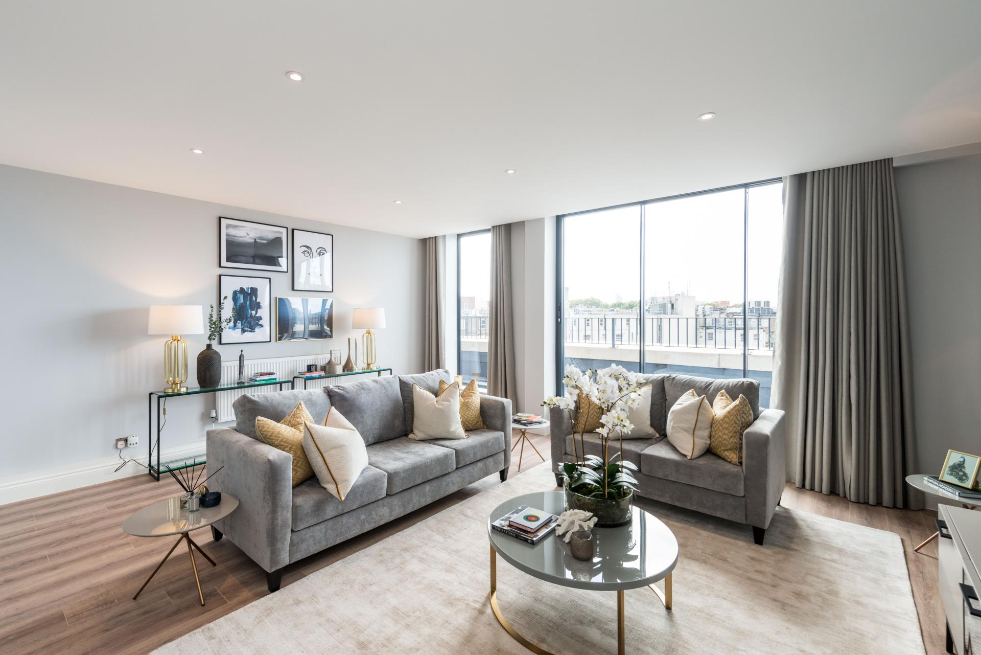 Sofas at The Carlyle Serviced Apartments, Earls Court, London - Citybase Apartments