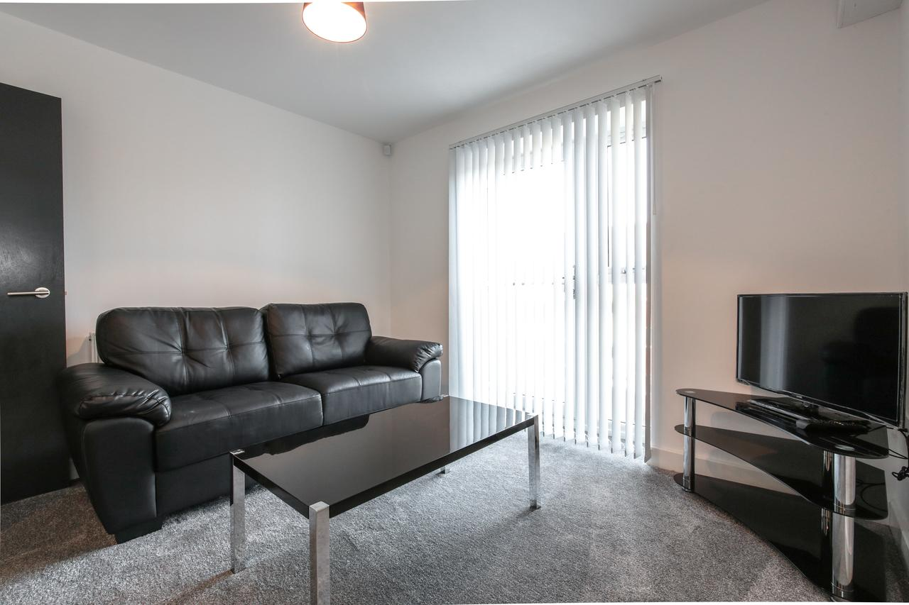 Living room at Sidney Place Apartments, Edge Hill, Liverpool - Citybase Apartments
