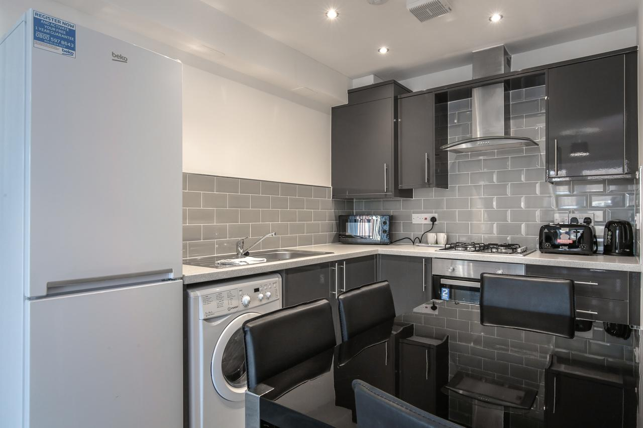 Kitchen at Sidney Place Apartments, Edge Hill, Liverpool - Citybase Apartments