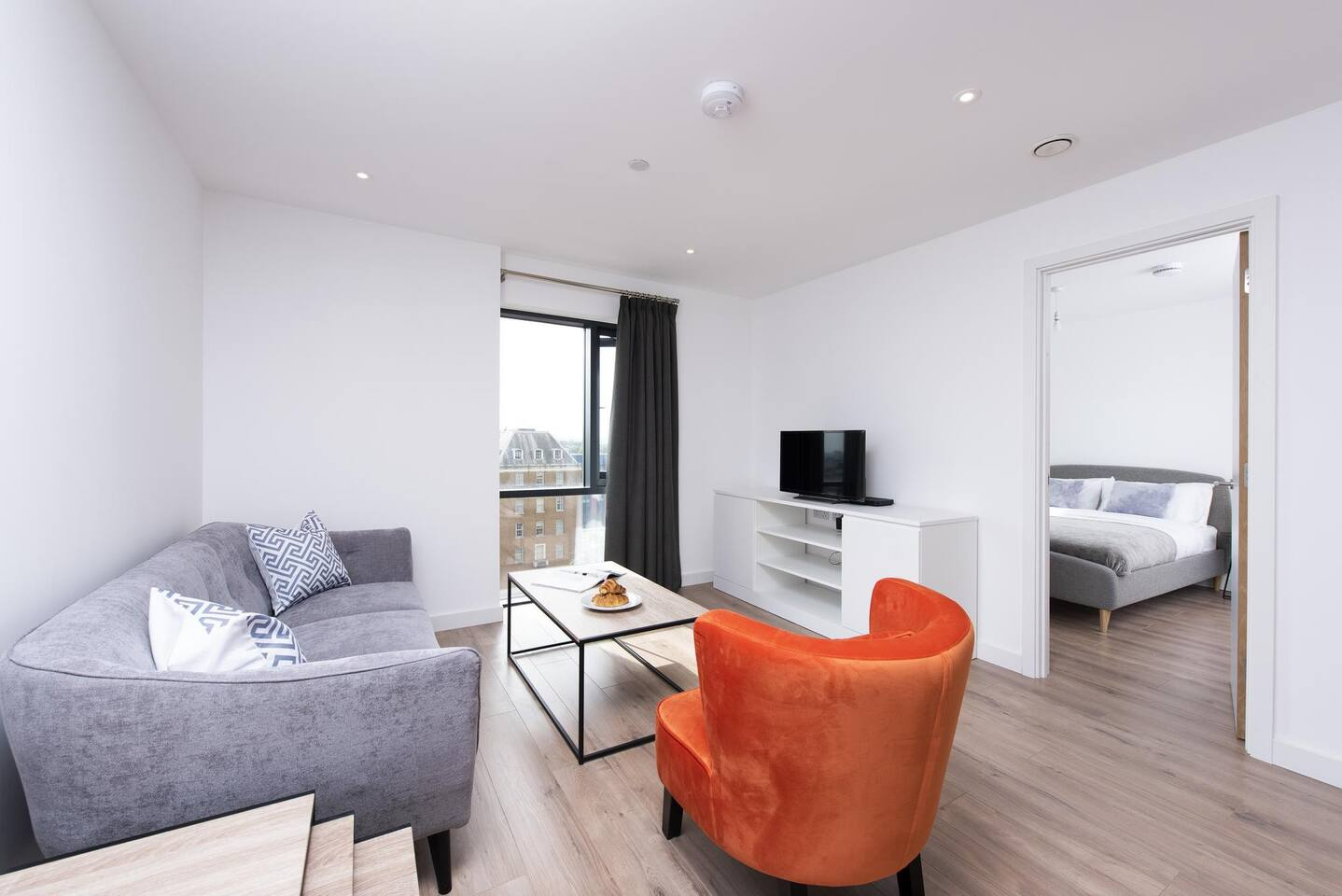 Living area at The Lansdowne Apartments, Ladywood, Birmingham - Citybase Apartments