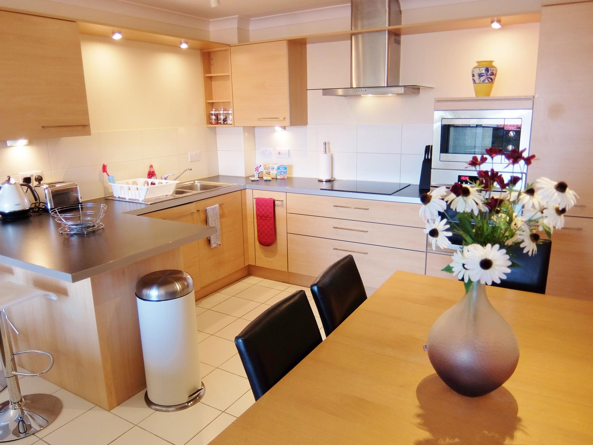 Kitchen at Hampton Court Serviced Apartments, Hampton Court, London - Citybase Apartments