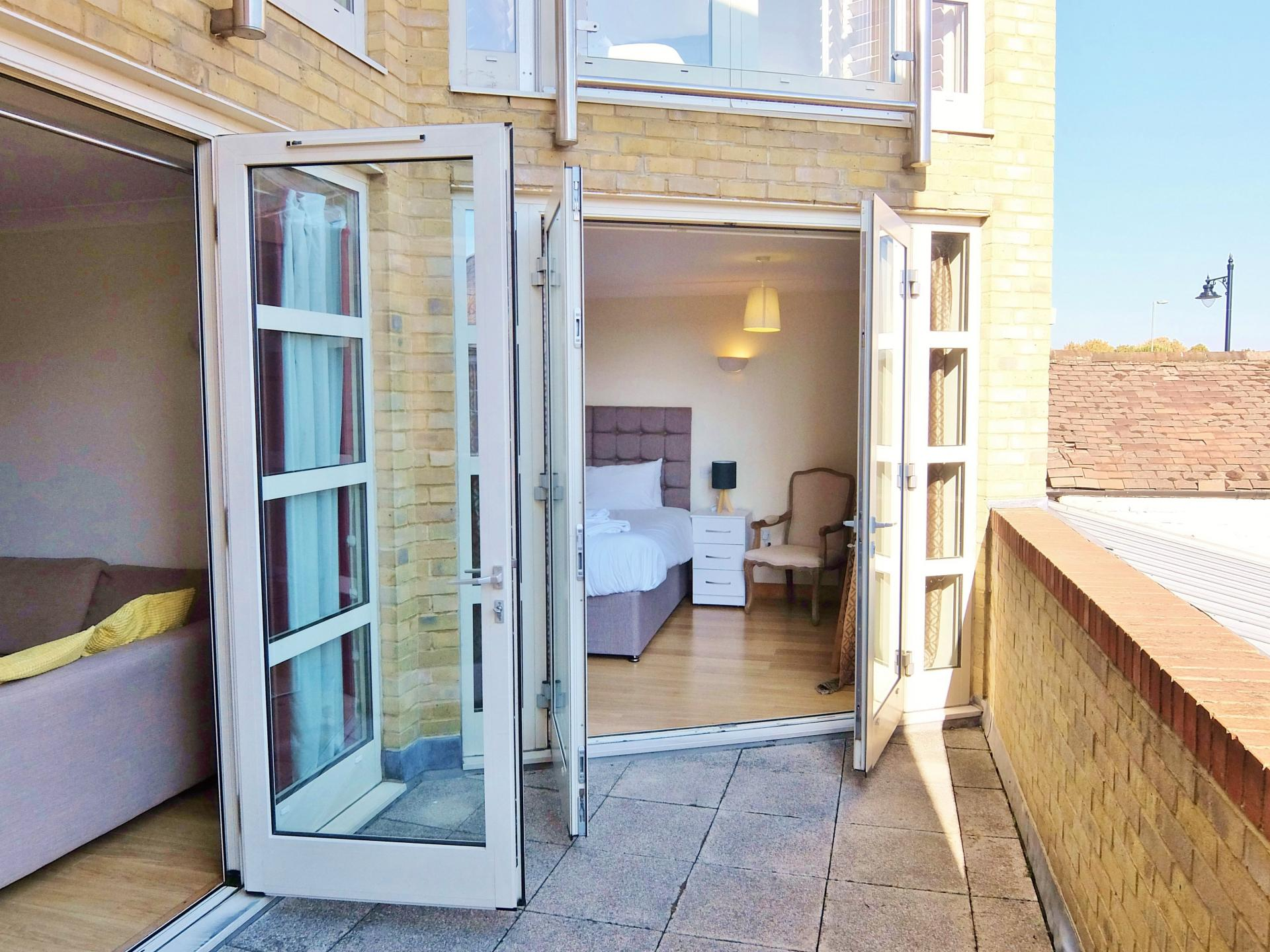 Balcony at Hampton Court Serviced Apartments, Hampton Court, London - Citybase Apartments