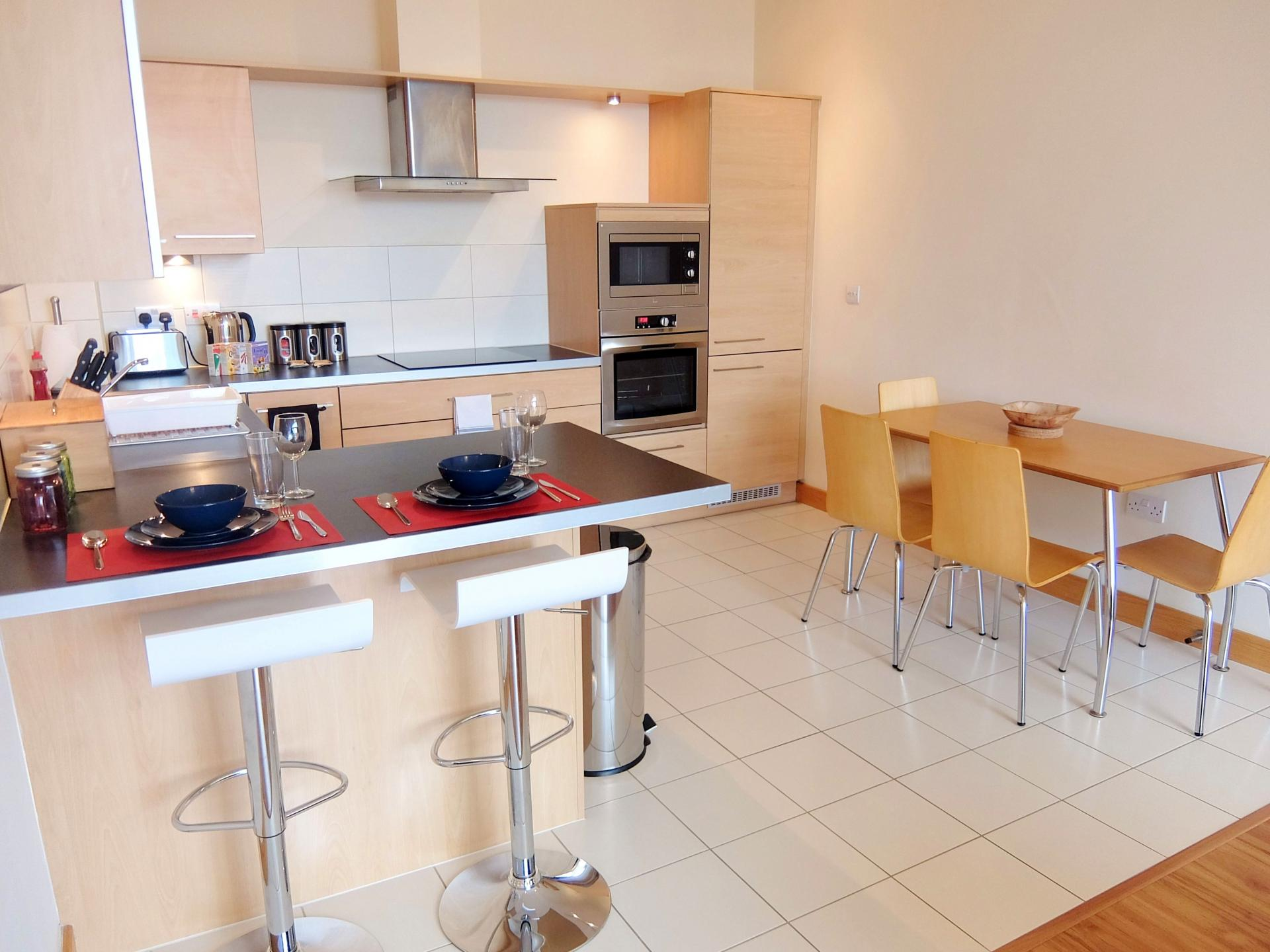 Dining area at Hampton Court Serviced Apartments, Hampton Court, London - Citybase Apartments