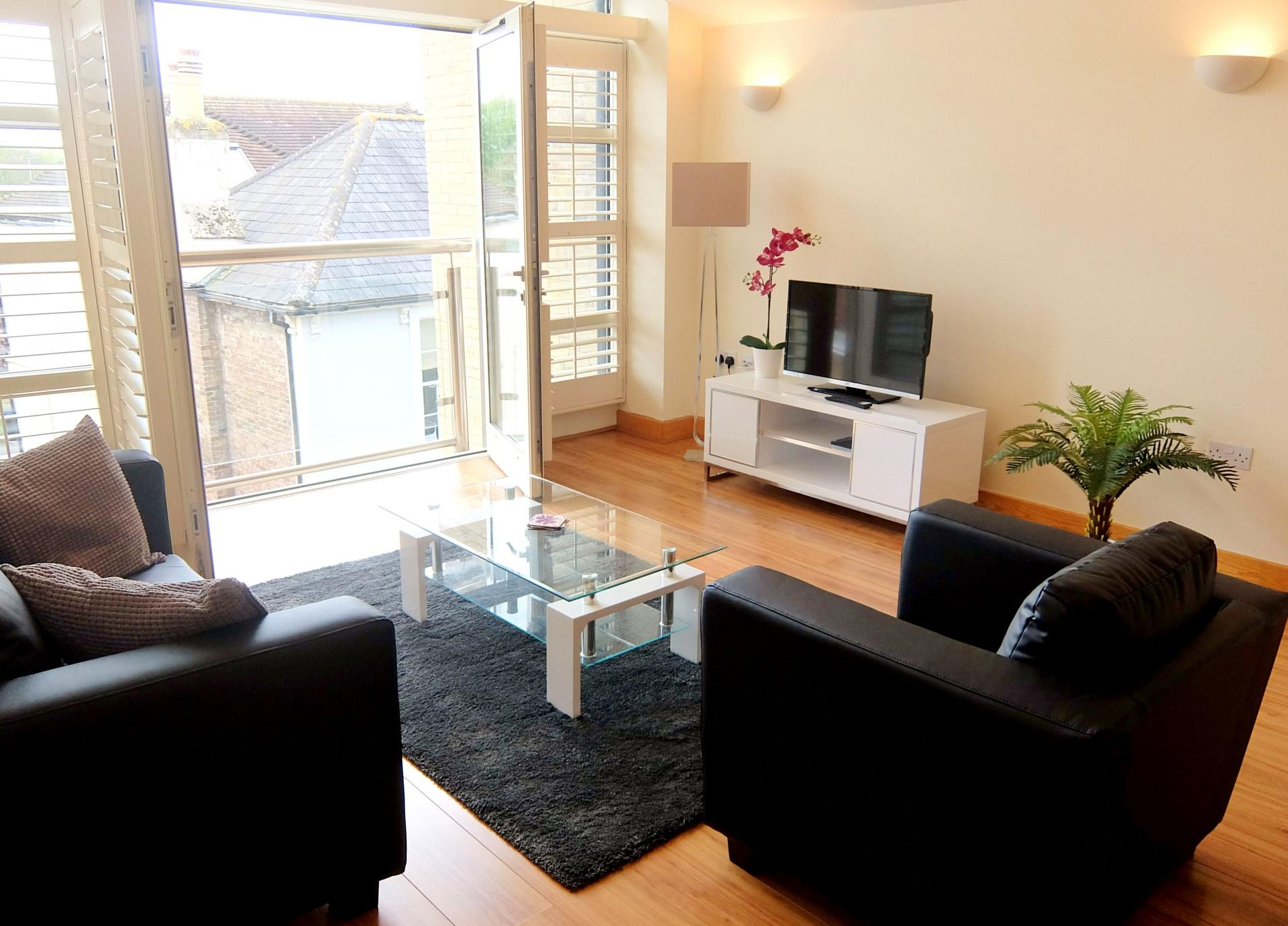 TV at Hampton Court Serviced Apartments, Hampton Court, London - Citybase Apartments