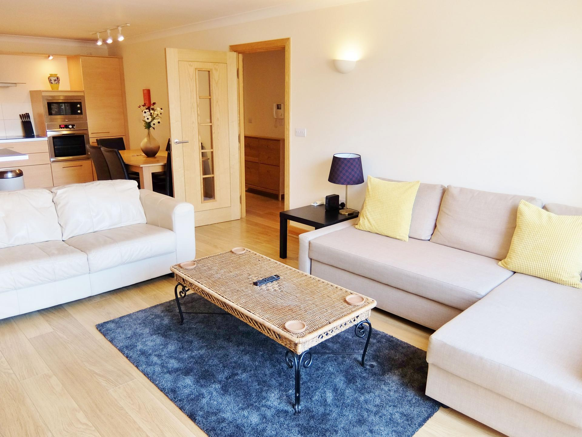 Sofas at Hampton Court Serviced Apartments, Hampton Court, London - Citybase Apartments
