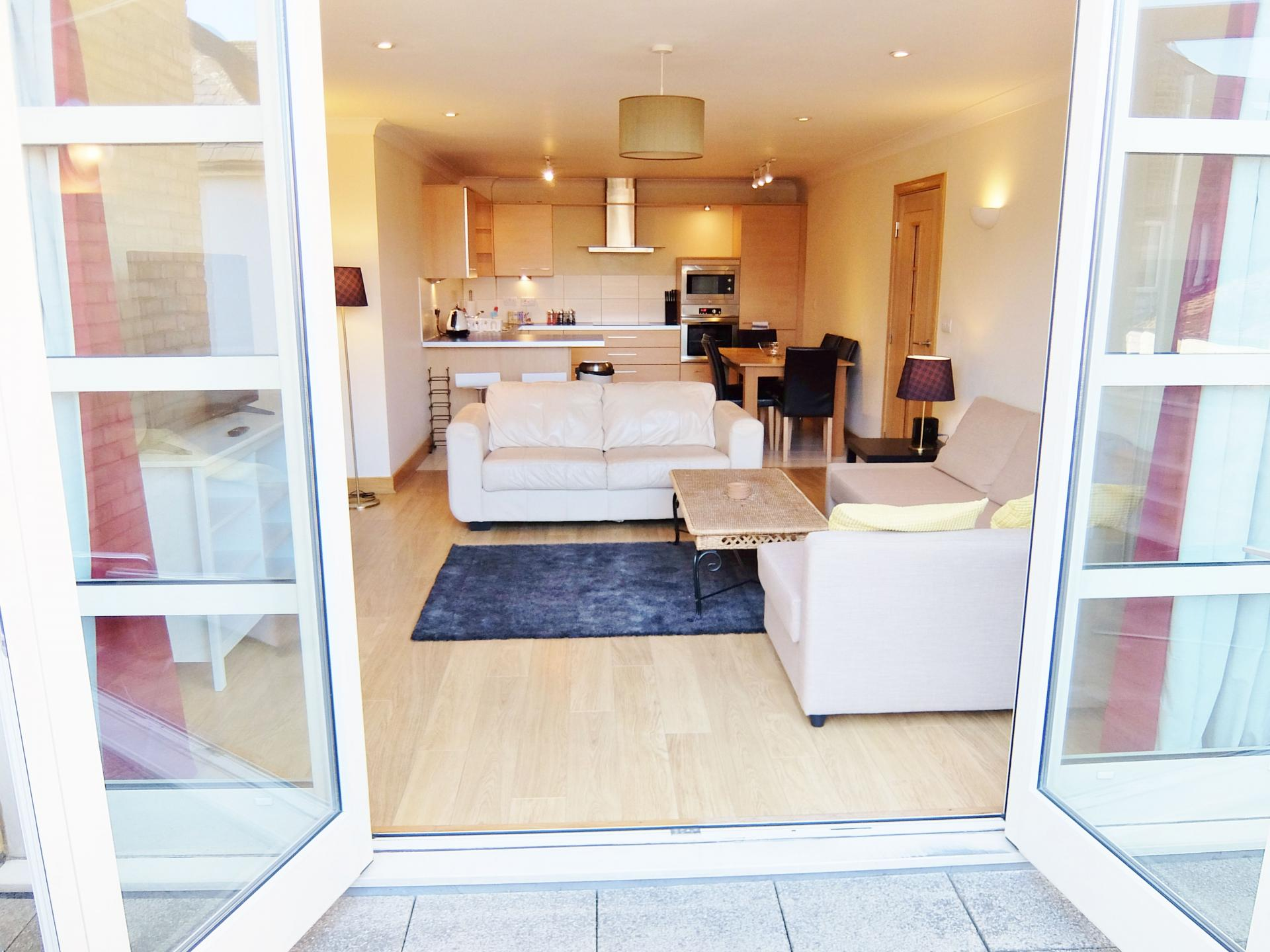 Patio doors at Hampton Court Serviced Apartments, Hampton Court, London - Citybase Apartments
