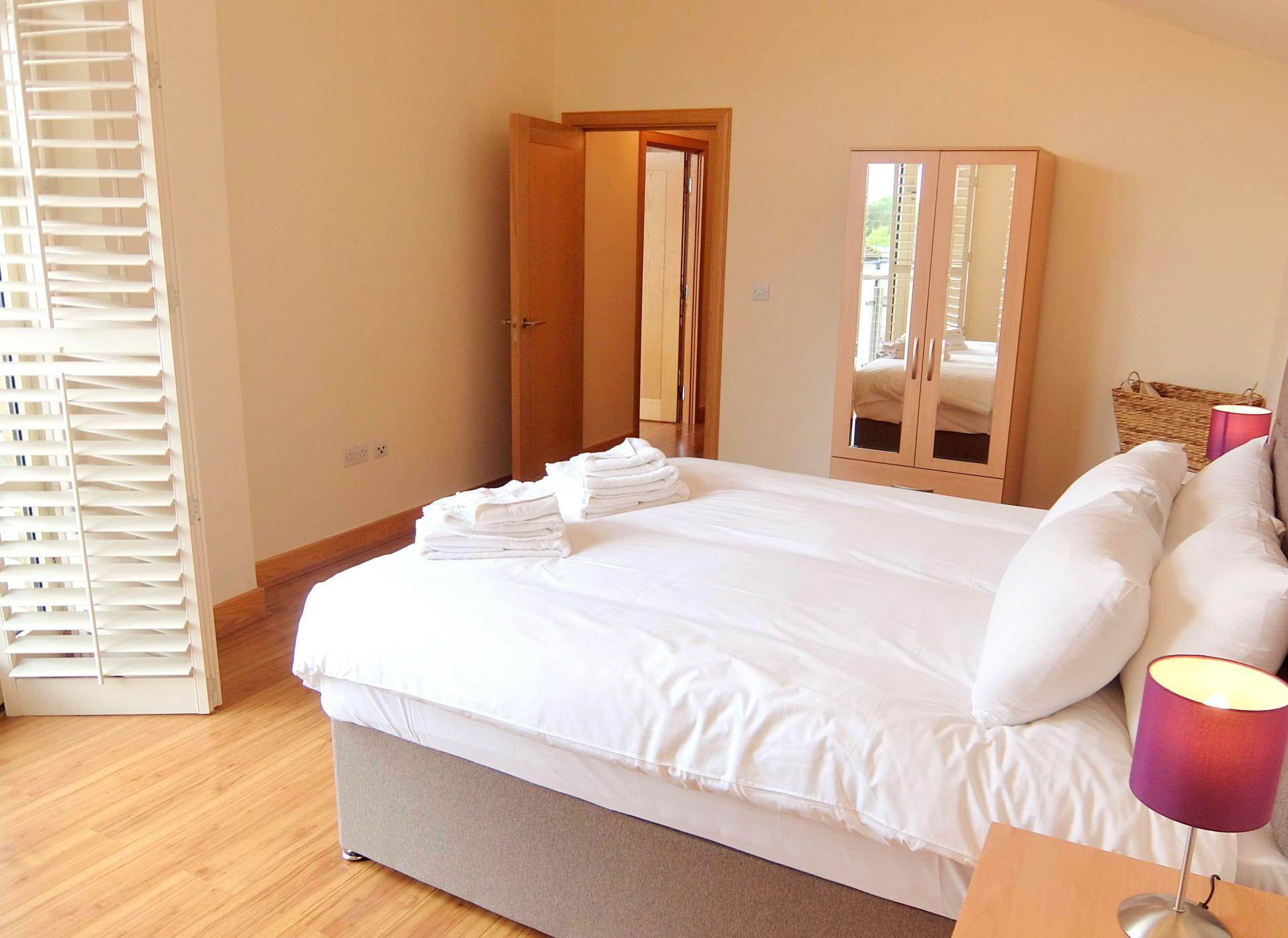 Bed at Hampton Court Serviced Apartments, Hampton Court, London - Citybase Apartments