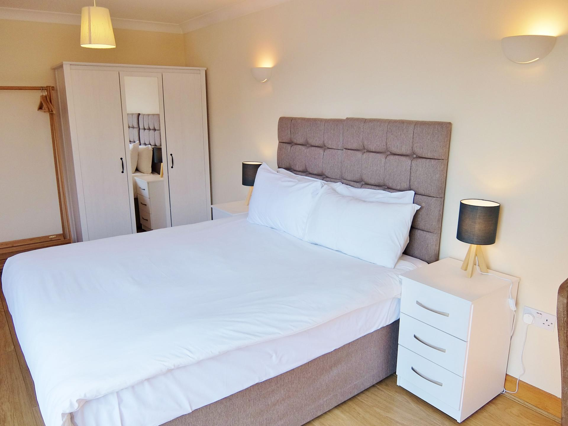 White linen at Hampton Court Serviced Apartments, Hampton Court, London - Citybase Apartments