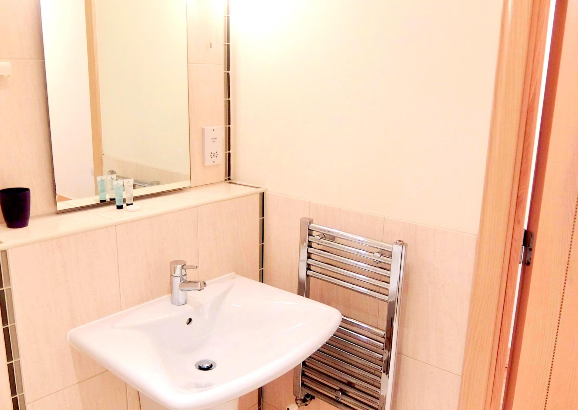 Sink at Hampton Court Serviced Apartments, Hampton Court, London - Citybase Apartments