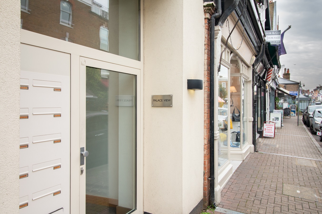 Doorway to Hampton Court Serviced Apartments, Hampton Court, London - Citybase Apartments