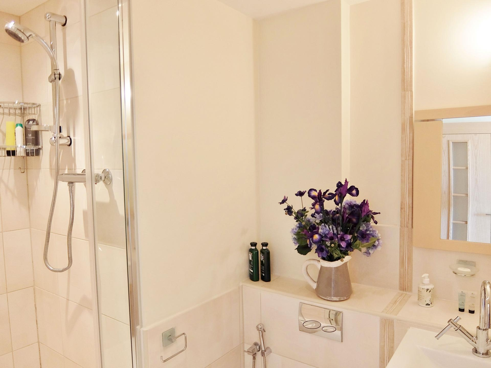 Shower at Hampton Court Creek Road Apartments, Hampton Court, London - Citybase Apartments