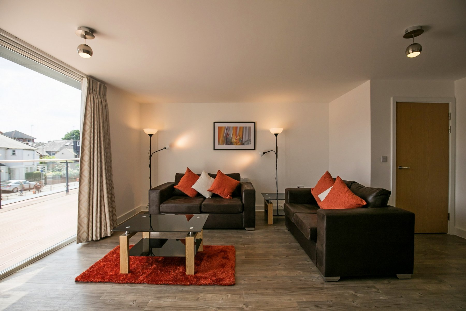 Living room at Kennet House Serviced Apartments, Centre, Reading - Citybase Apartments