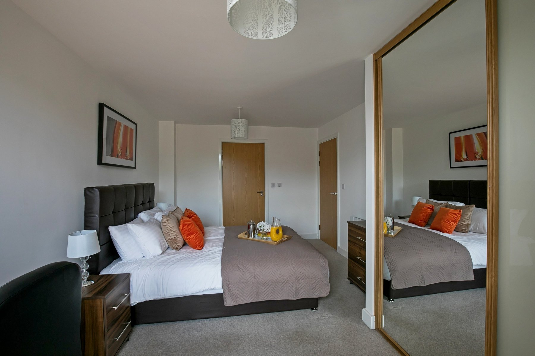 Bedroom layout at Kennet House Serviced Apartments, Centre, Reading - Citybase Apartments