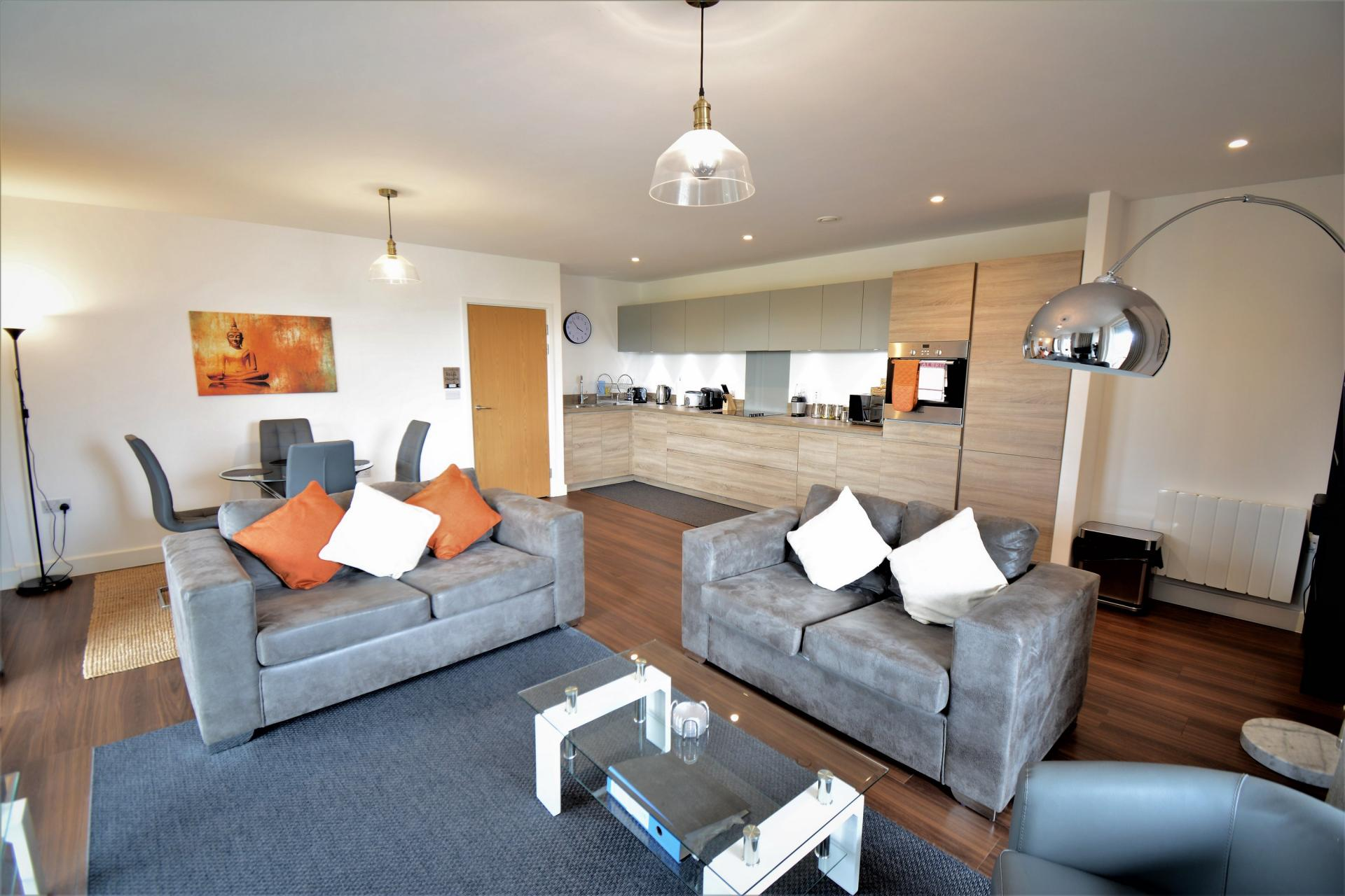 Sofas at Kennet House Serviced Apartments, Centre, Reading - Citybase Apartments