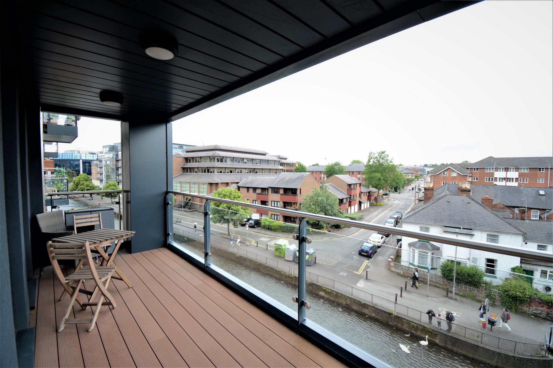 Balcony view at Kennet House Serviced Apartments, Centre, Reading - Citybase Apartments
