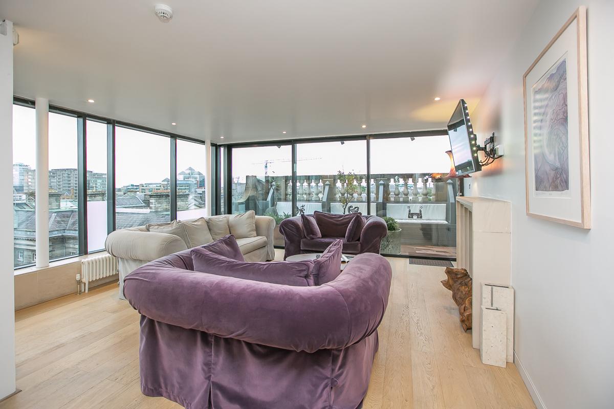 Sofa at Trinity Gardens Apartment, Centre, Dublin - Citybase Apartments