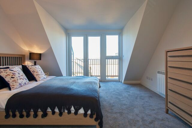 Bedroom at Brixham Court Apartments, Centre, Staines - Citybase Apartments