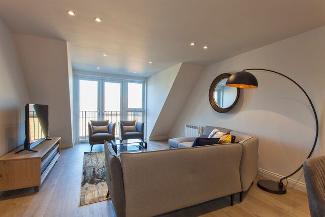 Cosy living area at Brixham Court Apartments by Charles Hope - Citybase Apartments