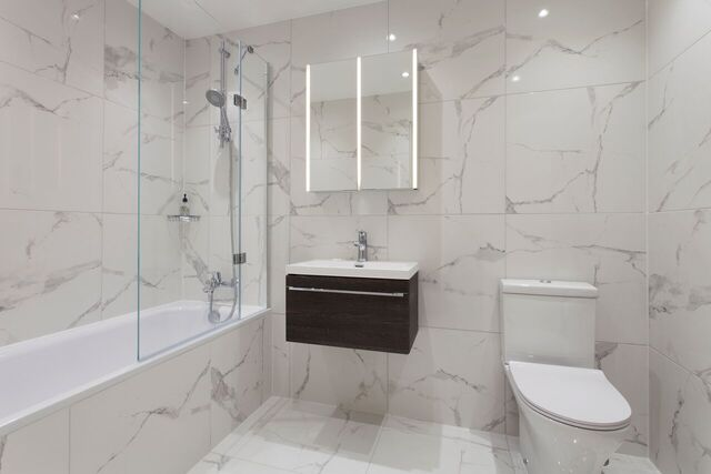 Bathroom at Brixham Court Apartments by Charles Hope - Citybase Apartments