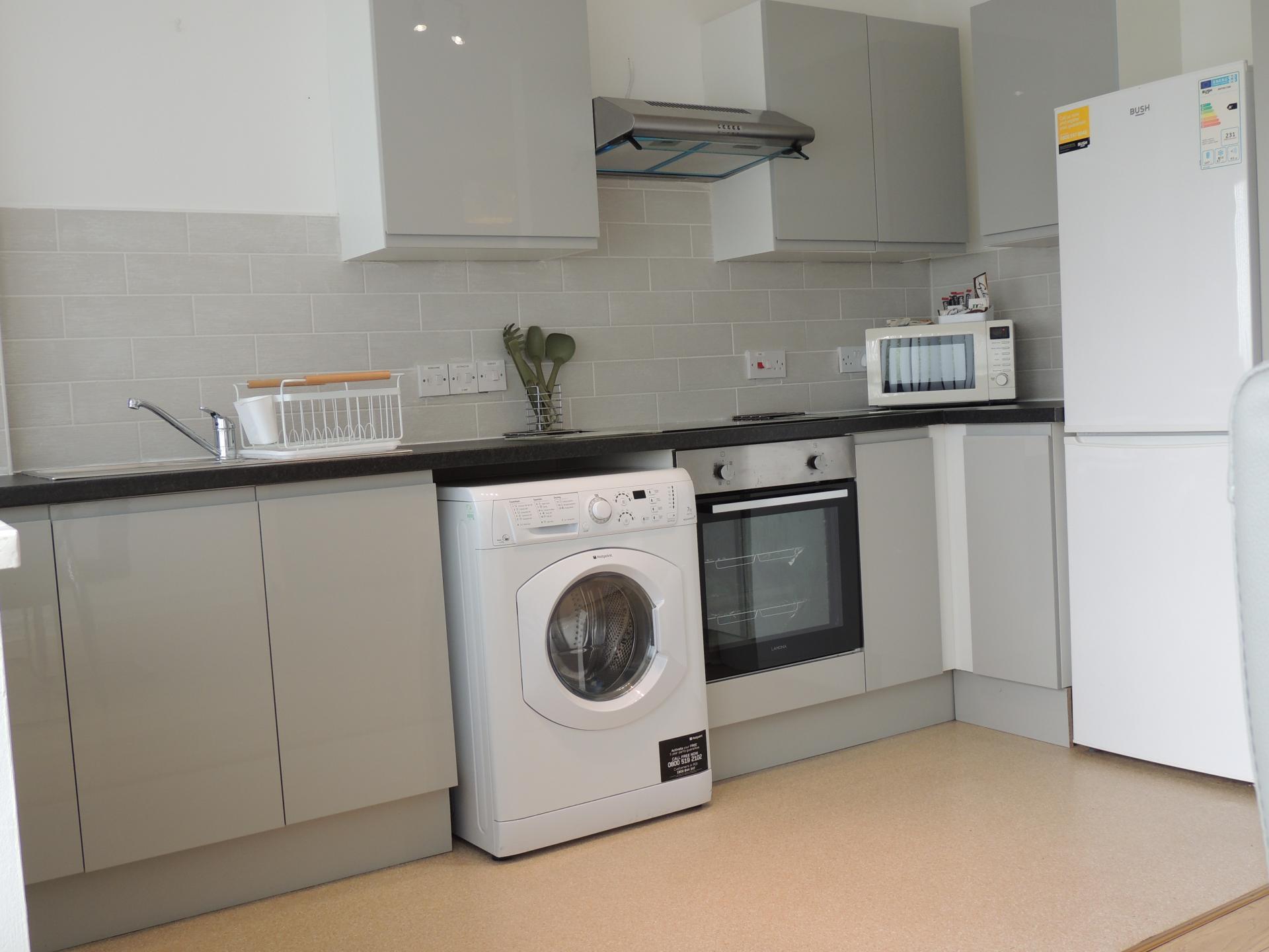 Washing machine at South Row Apartments - Citybase Apartments
