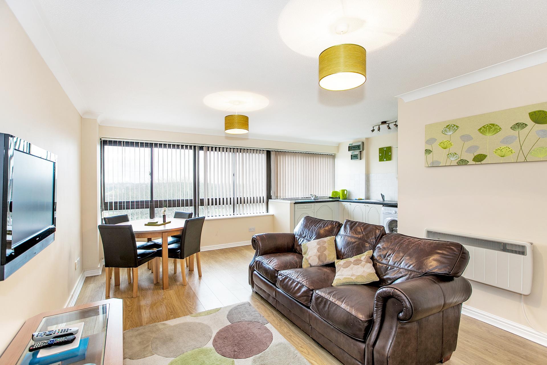 Living room at South Row Apartments - Citybase Apartments