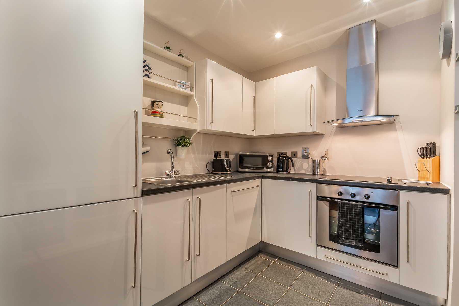 Fully equipped kitchen at Lazer Lane Apartment, Centre, Dublin - Citybase Apartments