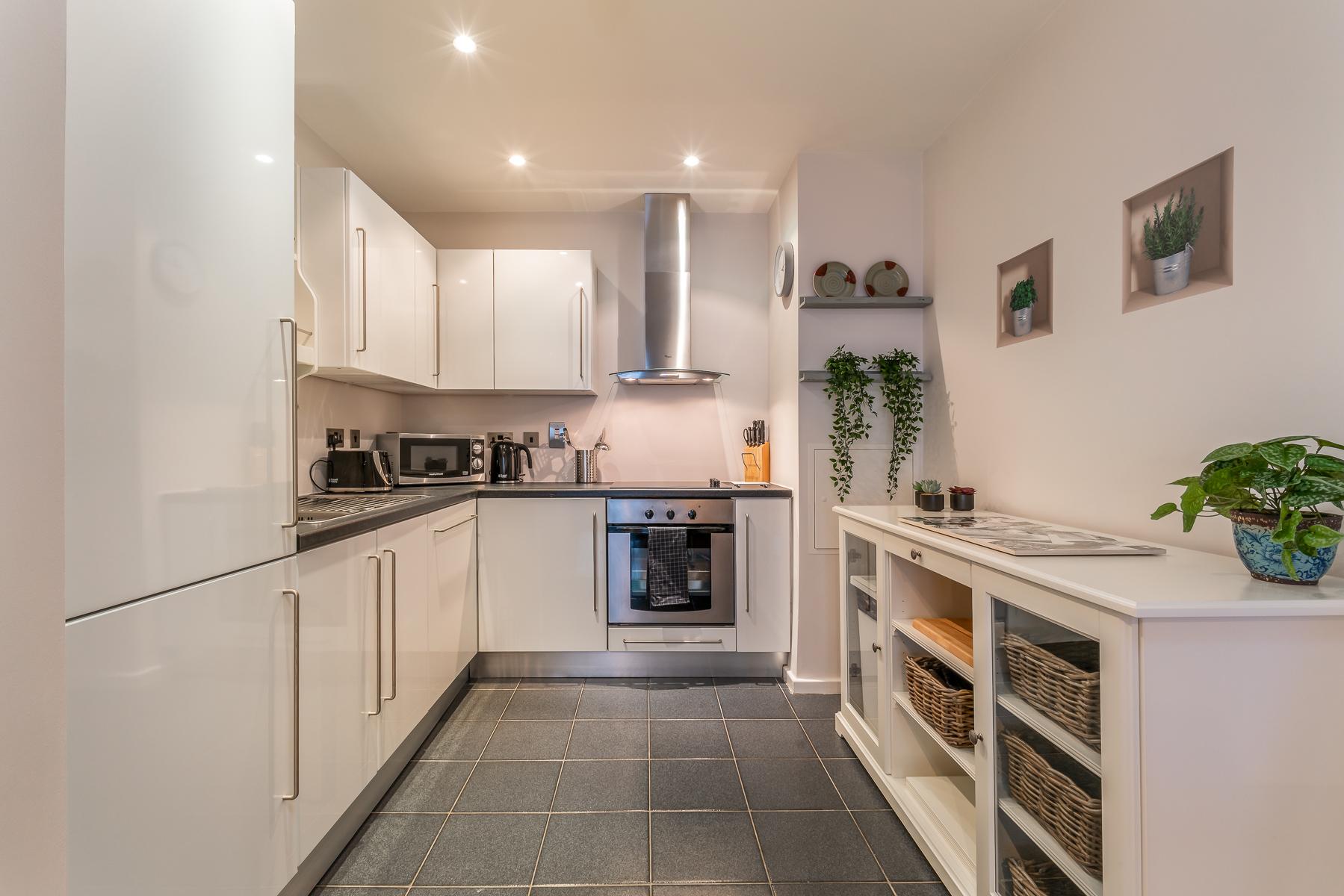 Kitchen at Lazer Lane Apartment, Centre, Dublin - Citybase Apartments