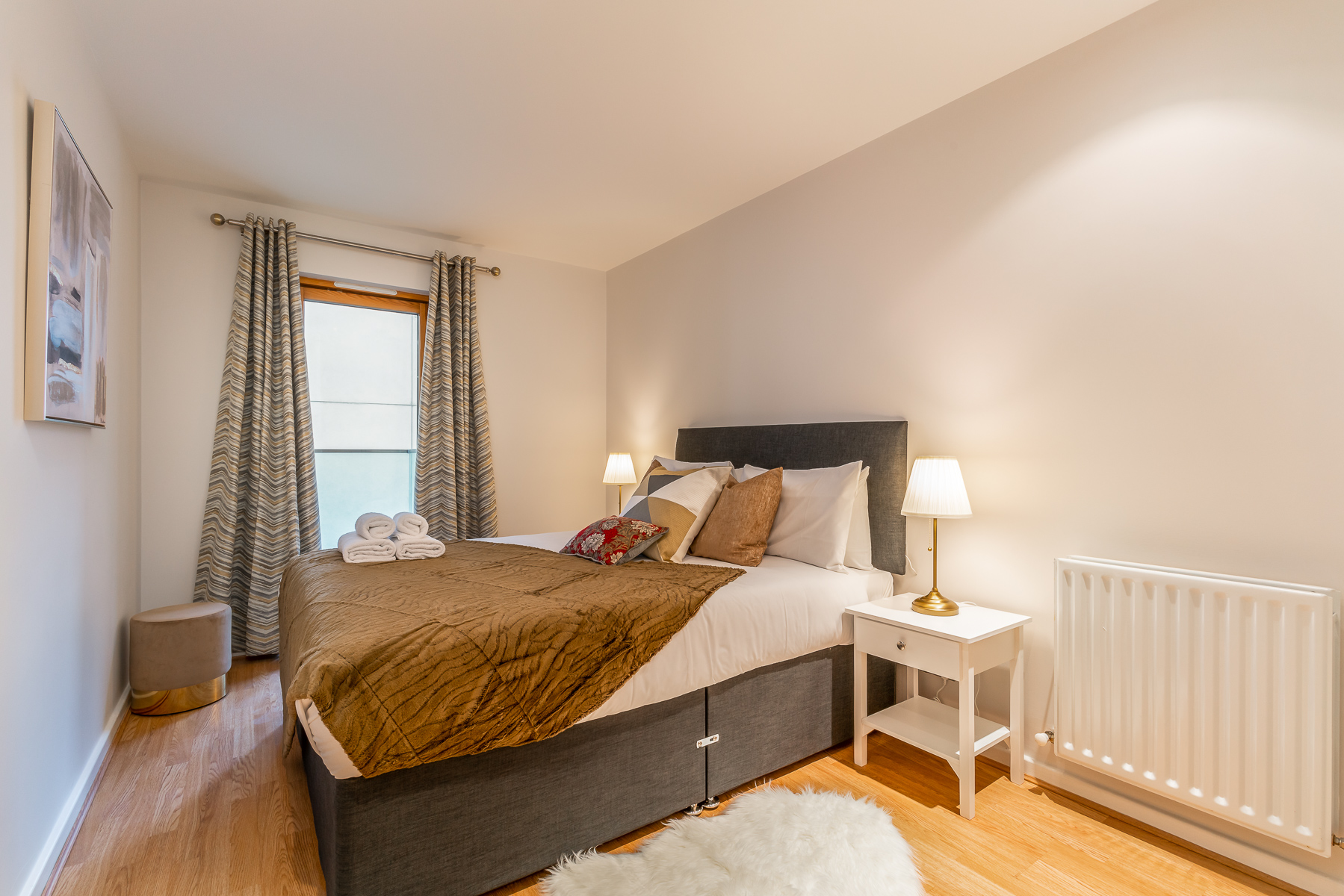Bed at Lazer Lane Apartment, Centre, Dublin - Citybase Apartments