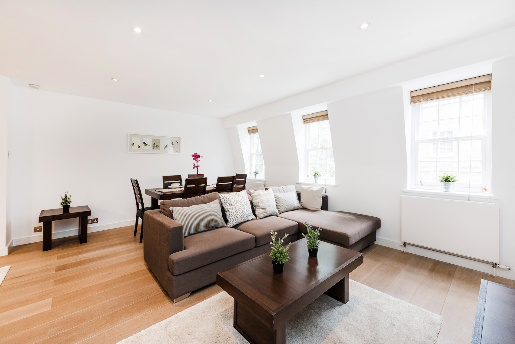 Sofa at Short Gardens Apartment, Covent Garden, London - Citybase Apartments
