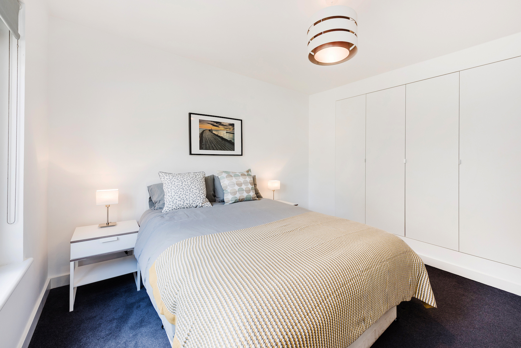 Bed at Short Gardens Apartment, Covent Garden, London - Citybase Apartments