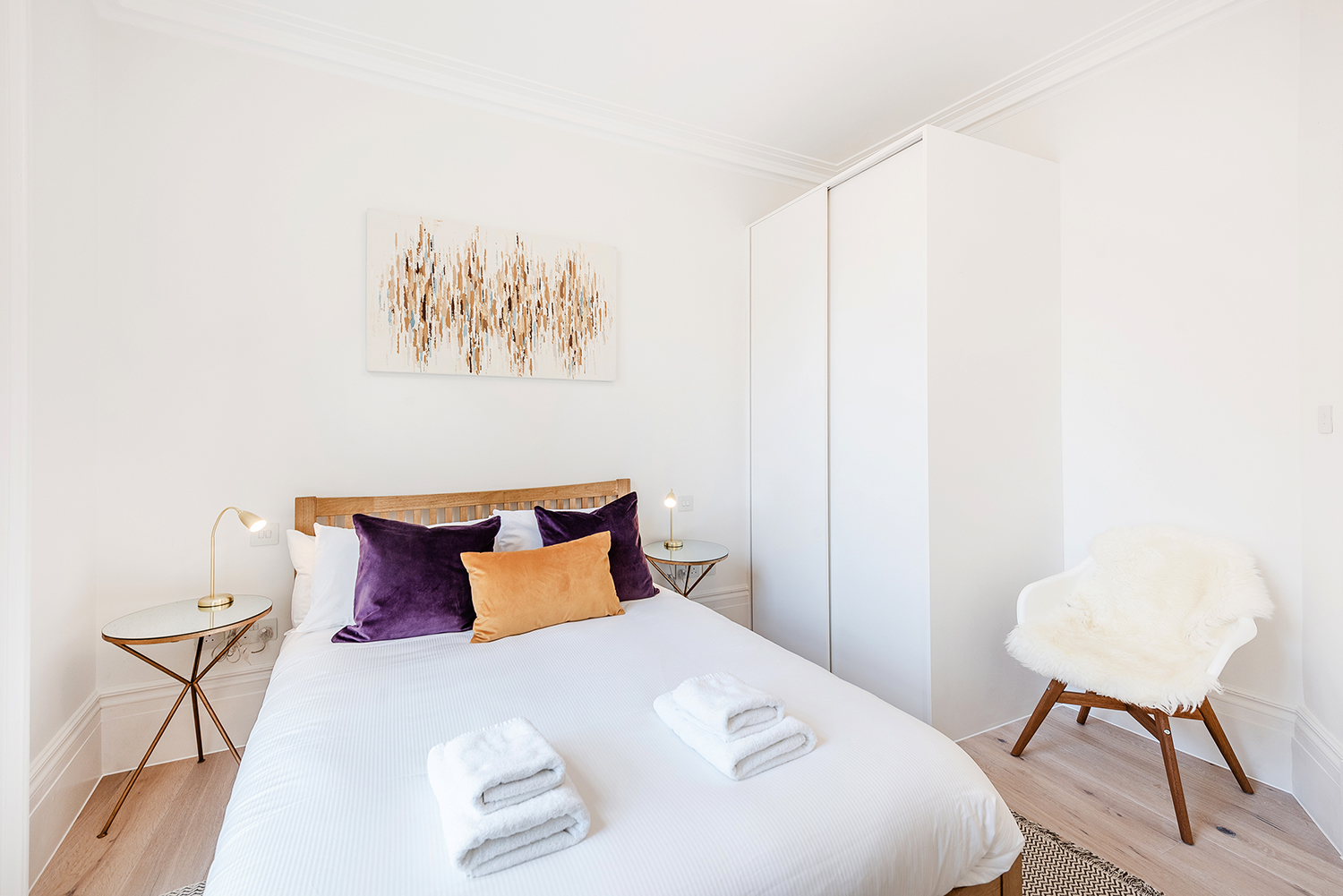 Double bed at Short Gardens Apartment, Covent Garden, London - Citybase Apartments