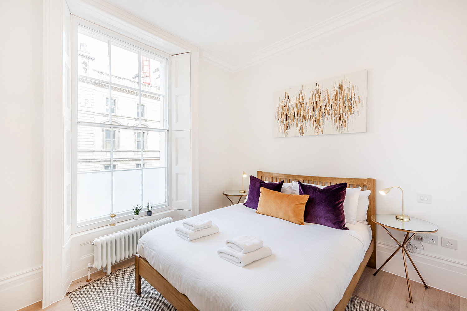Light bedroom at Short Gardens Apartment, Covent Garden, London - Citybase Apartments