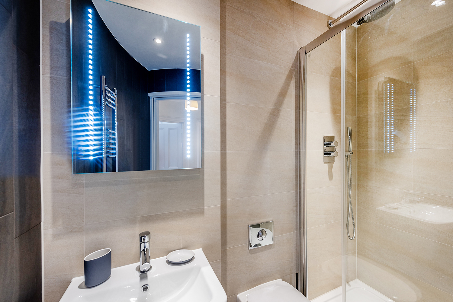 Shower at Short Gardens Apartment, Covent Garden, London - Citybase Apartments