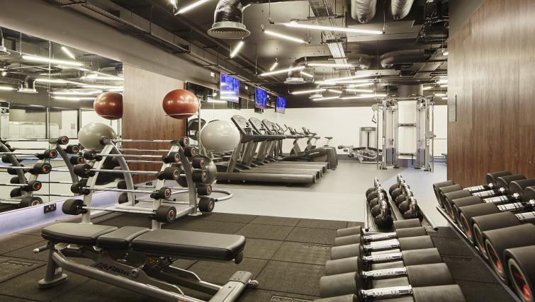 Gym area at Residence Inn Kensington - Citybase Apartments