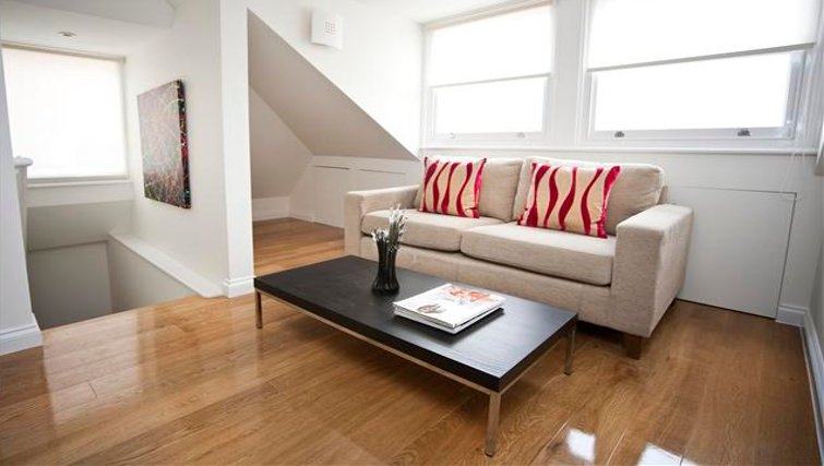 Fresh living room at Paddington Green Apartments - Citybase Apartments