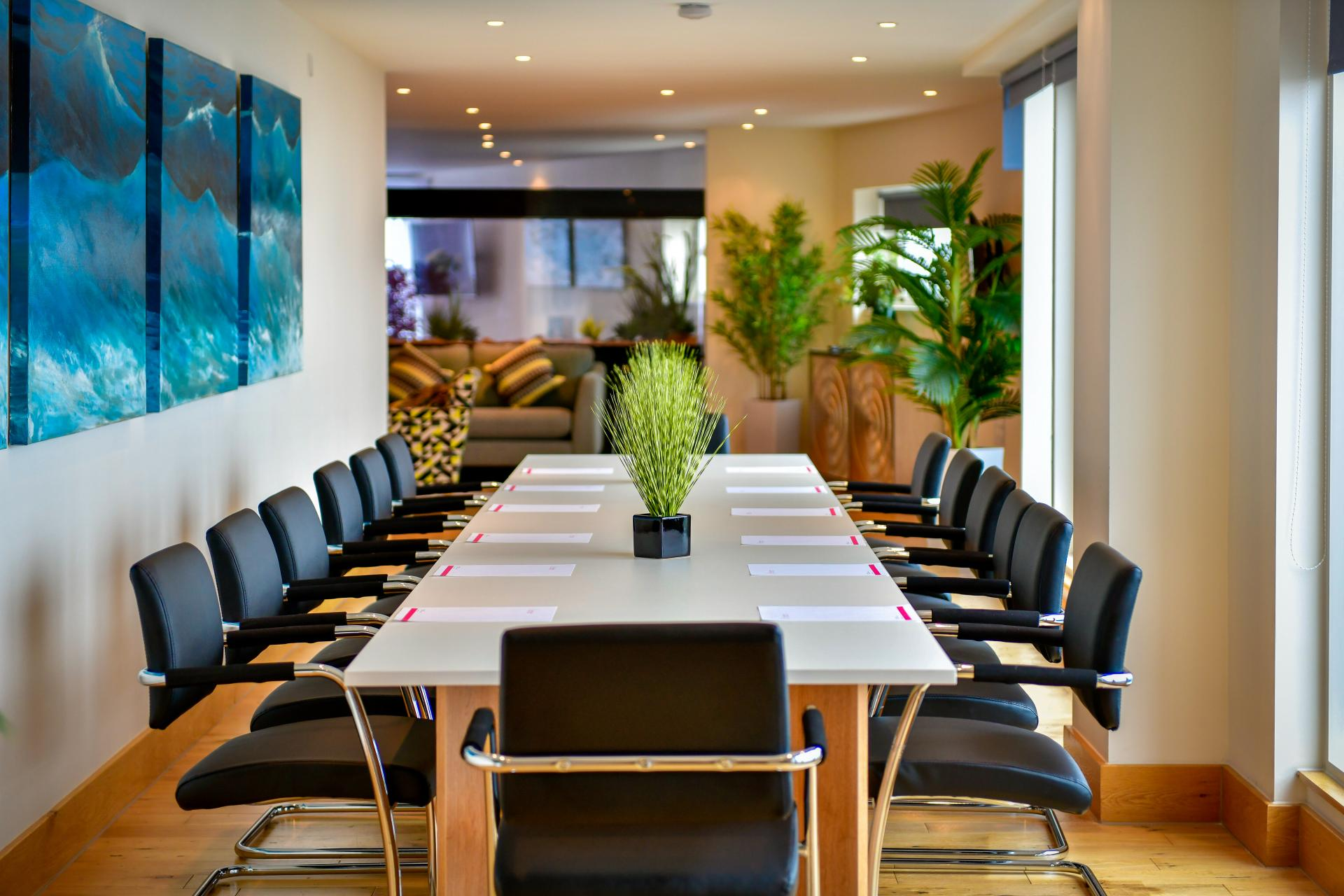 Boardroom at Meridian Quay Penthouses, Maritime Quarter, Swansea - Citybase Apartments